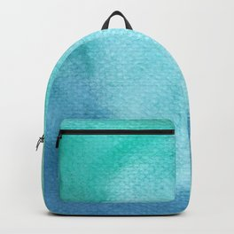 Blue Watercolor Texture Backpack