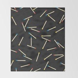 Matchsticks Throw Blanket