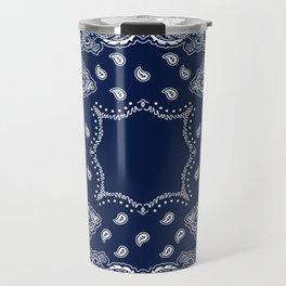 Bandana - Navy Blue - Boho Travel Mug