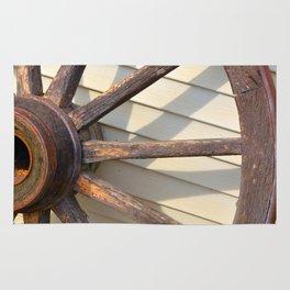Wheel of a Wagon Rug
