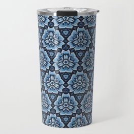 Blue Blossom Motif Travel Mug