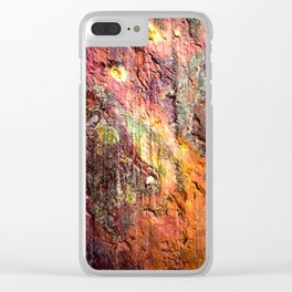 Colorful Nature : Texture Warm Tones Clear iPhone Case