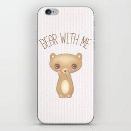 Bear With Me - Creepy Cute Teddy iPhone Skin