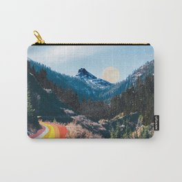 1960's Style Mountain Collage Carry-All Pouch