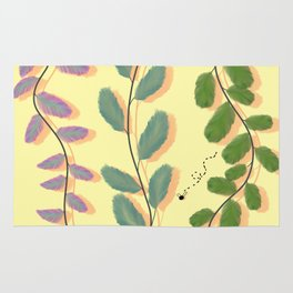 Different Kinds of Leaves Rug