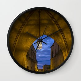 streets of the Knights  Rhodes Greece Wall Clock