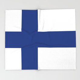 Flag of Finland - High Quality Image Throw Blanket