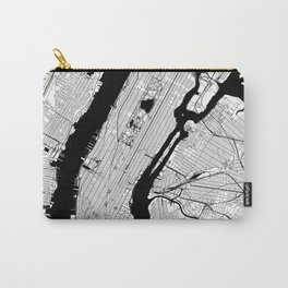 New York City Black and White Map Carry-All Pouch