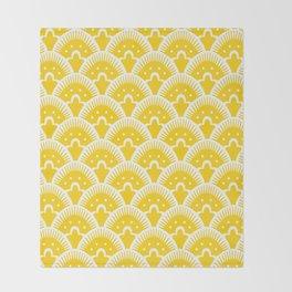 Fan Pattern Yellow 201 Throw Blanket