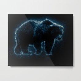 Splash Bear Metal Print