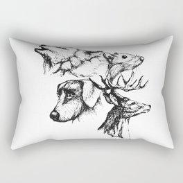 Moony Wormtail Padfoot Prongs Rectangular Pillow