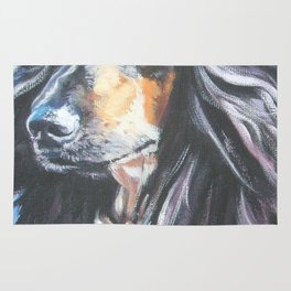 Afghan Hound Beautiful Fine Art Dog Painting by L.A.Shepard Rug