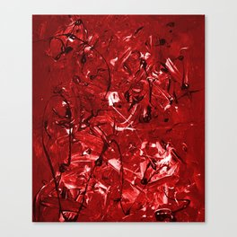 Abstract #446 Red Chaos Canvas Print