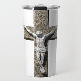 Jesuschrist on a Cross Sculpture Travel Mug