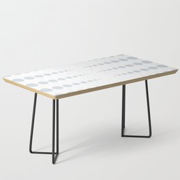 Up and down polka dot pattern in white and a pale icy gray Coffee Table