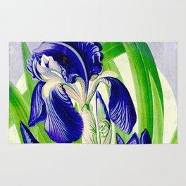 Purple Iris Rug