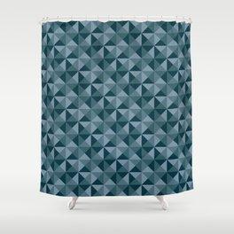 Blue Quartet Shower Curtain