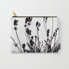 Lavendel Field Flower Abstract Black and White Markers Carry-All Pouch