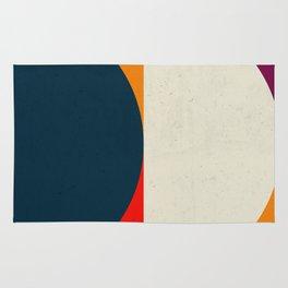 Geometric abstract / half circles Rug