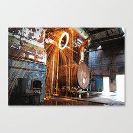 Pineville NC Textile Mill Spin Canvas Print