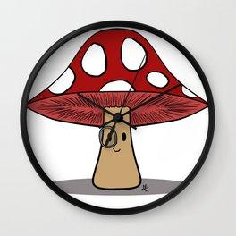 Dapper 'Shroom Wall Clock