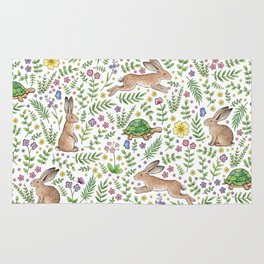 Spring Time Tortoises and Hares Rug