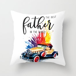 Best father #2 in the world | Father's day Throw Pillow