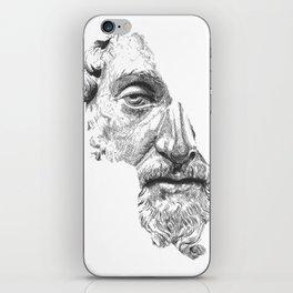 MARCUS AURELIUS ANTONINUS AUGUSTUS / black / white iPhone Skin