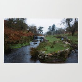 Stream in the park Rug
