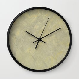 Champagne Skies Silver And Gold Metallic Plasters - Fancy Faux Finishes Wall Clock