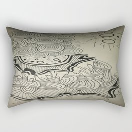 Ink Doodle Sprial Design Rectangular Pillow