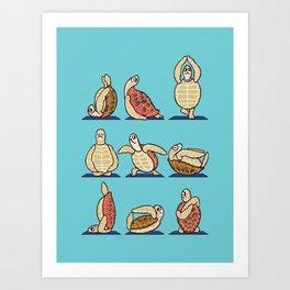 Green Sea Turtle  Yoga Art Print