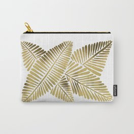 Tropical Banana Leaves – Gold Palette Carry-All Pouch