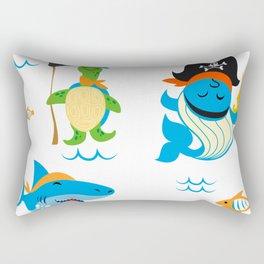 Set of cute Animals pirate design Rectangular Pillow