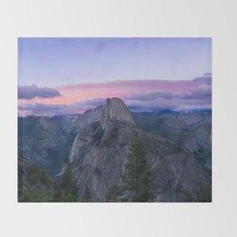 Yosemite National Park at Sunset Throw Blanket