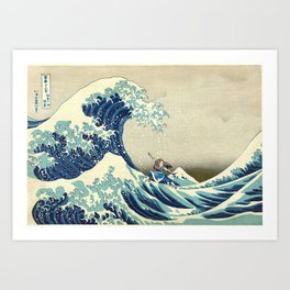 Katara Riding the Wave Art Print