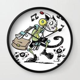 Music Robot Lover Wall Clock