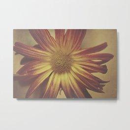 Textured flower Metal Print