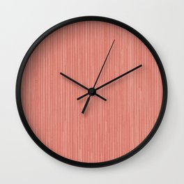 Abstract modern coral geometrical stripes Wall Clock