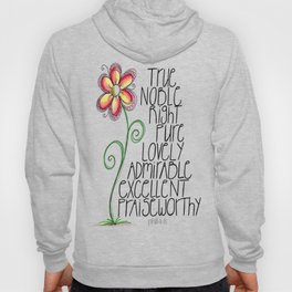 Think on These (Philippians 4:8) Hoody