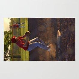 Baseball Action Rug