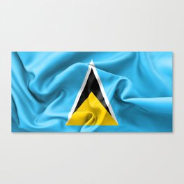 Saint Lucia Flag Canvas Print