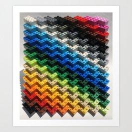 Brick-a-brac Art Print