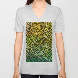 Green Worms Unisex V-Neck