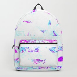 Washed Out Floral Stripes Backpack