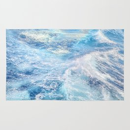 """Sea waves"". High sea.... Rug"