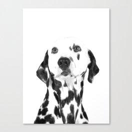 Black and White Dalmatian Canvas Print