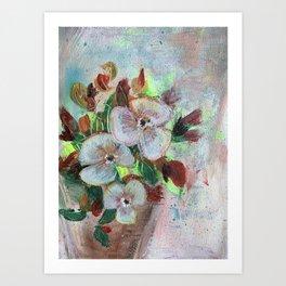 Begonia Blooms Art Print