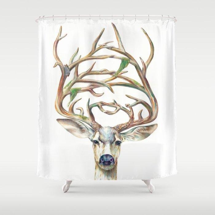 Buck Shower Curtain By Brandonkeehner