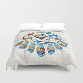 Native American Colorful Dream Catcher by Sharon Cummings Duvet Cover